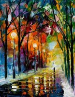 WINTER PARK - LEONID AFREMOV 2 by Leonidafremov