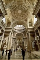 Pantheon interior by FrenchieSmalls