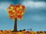 Fall Tree 100315 by kyle-culver
