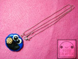 Cookie Monster Necklace by efeeha