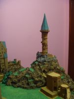 Hogwarts Castle Paper Model - The Owlery Finished by ana-wandmaker