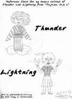 Thunder and Lightning sketches by MU-Cheer-Girl