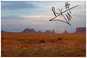 Monument Valley Utah Sunset by Pyratn