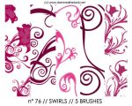 PHOTOSHOP BRUSHES : swirls by darkmercy