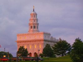 Nauvoo Temple Sunset by MrRstar