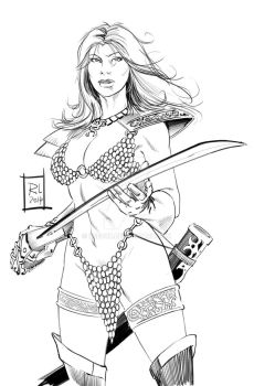 Red Sonja by kre8uk