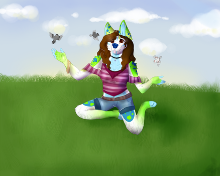 Draw everything June event (DAY 2) by Ukulelewolfeh