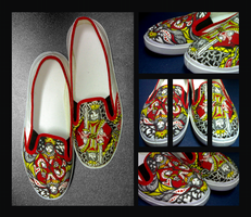 Shoes:King and Queen of Hearts by kahel