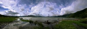 Mount and Lake Batur by esthetic-of-sight