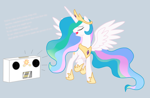 Celestia Singing by ArdonSword