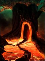 Giant lava tree by Mowito