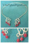 Red Jade and Silver Collar by WireMySoul