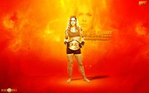 Ronda Rousey ufc women's champion by MMASportWall1982