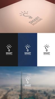 Smart Solutions logo by ahmedelzahra