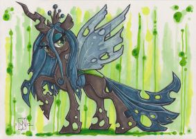 Queen Chrysalis by Kattvalk