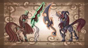 Slayer Ponies by raptor007