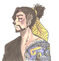 Overwatch - Hanzo doodle by akkame