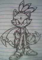 Blaze with her cape by PokeSonFanGirl