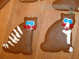 Gingerbread Cats 04 by ConfusedLittleKitty