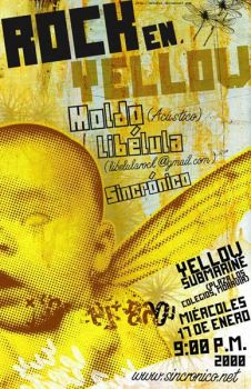rock in yellow poster by mrbobcr