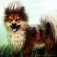 Growlithe Fanart #058 by Sadako-xD