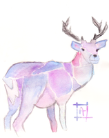 Violet Deer by Avalaa