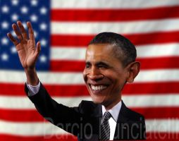 Caricature Obama by dnunciate