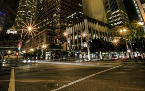 Downtown LA Night HDRI 02 by Dilznacka