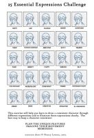 25 Expressions Challenge by KRStudio