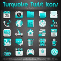 Turquoise Twist Icons by CrazEriC