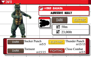 Kaijumon - #1969 Gabara - Agressive Bully by GreenGimmick