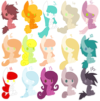 Free Pony Adopts 2~! .:Closed:. by Arrestii