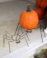 pumpkin spiders by jellybaby99