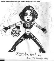 Old Zombie Girl 01 by Gummibearboy
