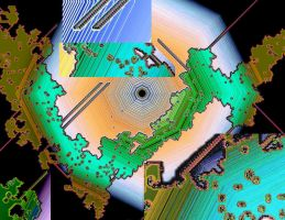 Inverted Cellular Atomaton Conflict Zone Geography by aegiandyad