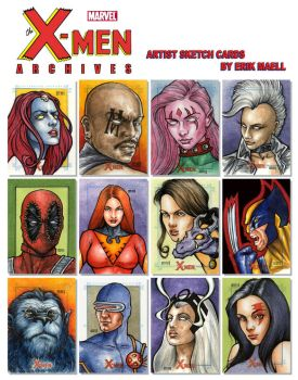 X-MEN Archives Sketch Cards by Erik-Maell