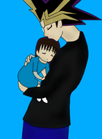 Atem with his daughter Keda by QueenBrittStalin