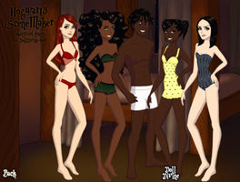 Rhodey and His Girls in underwear Dress Up 1 by Finny-KunGoddess