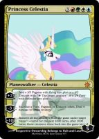 Princess Celestia MTG Card by Mawbane