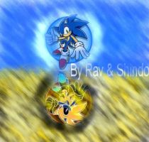 1st Sonic Wallpaper Ive made by RavTheHedgehog
