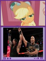 Appplejack's Reaction To Royal Rumble by DigitBrony
