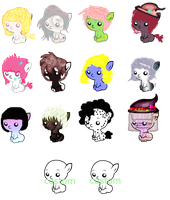 Baby pony adoptables -OPEN- SALE by Rainbow-Fluffy