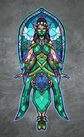 Stained Glass Ying by TheStarBear