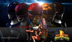 MMPR Cast 2nd Wallpaper by scottasl