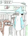 Parody: American Gothic Regular Show Colored by Sorain-chan