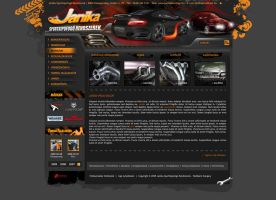 Tuning Cars Webpage by stikyo