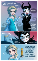 Elsa and Maleficent by daekazu