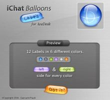iChat Balloons Labels by HybridRainbow2004
