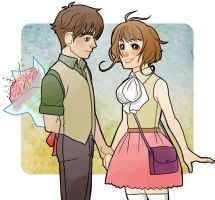 Sakura and Syaoran by ileWolf