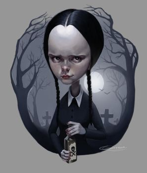Wednesday Addams by NightshadeBerry